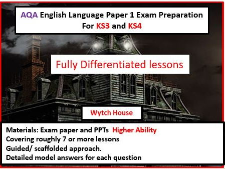 AQA GCSE English Language Paper 1 Exam Preparation For KS3 and KS4--Higher Ability