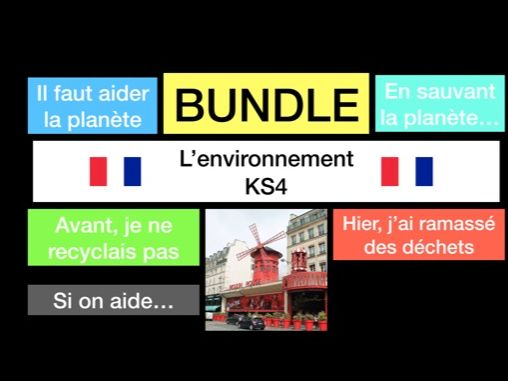 French - GCSE - environnement environment (WHOLE UNIT - reading, speaking, translations, writing)