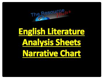 Literature Analysis Sheets Narrative Chart