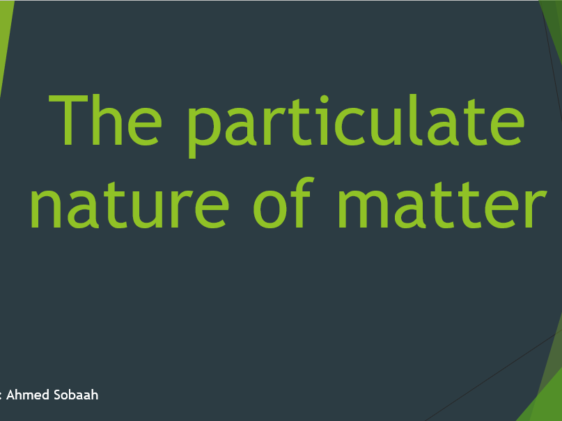 Particulate Nature of Matter