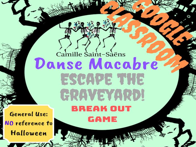 Digital Breakout Game:  Danse Macabre-Escape the Graveyard