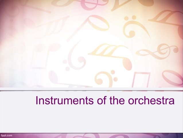 Instruments of the orchestra (22 slides including information, images and interactive activities)
