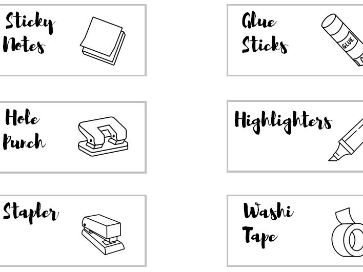 Teacher Toolkit 30 drawer labels