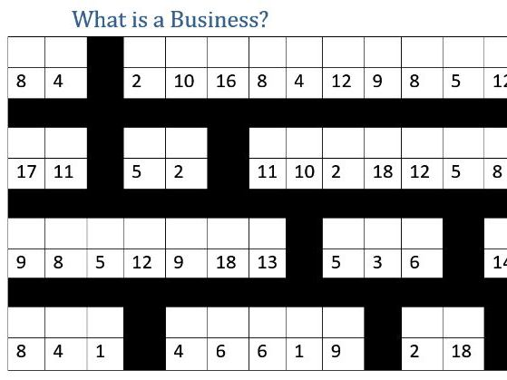 What is Business? Decode the definition task - GCSE
