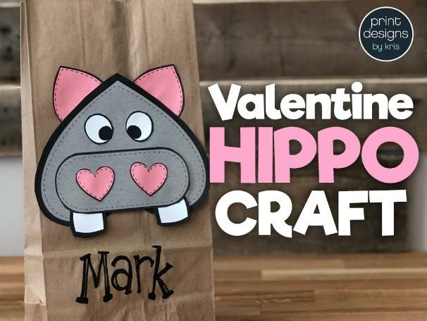 Valentine's Day Craft Bag Card Holder - HIPPO