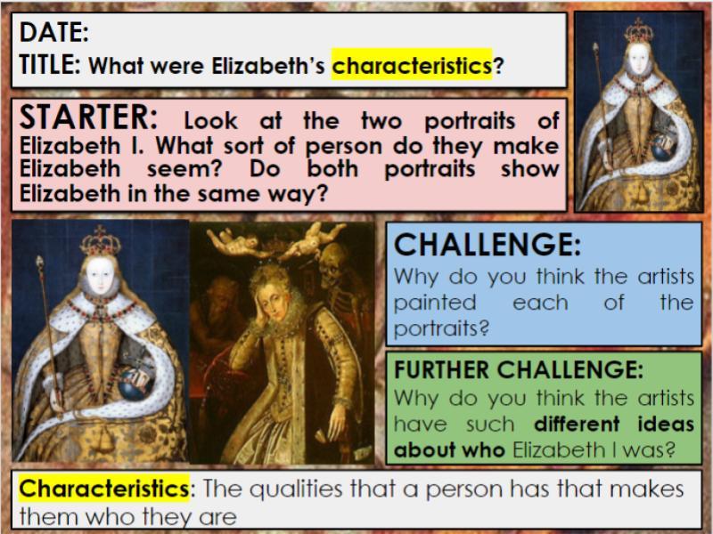 Edexcel 9-1 History GCSE: Paper 2 Elizabeth: KT1: Lesson 2: What were Elizabeth's characteristics?