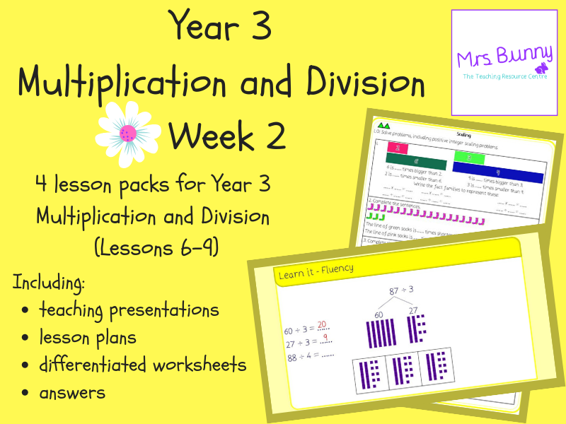Year 3 Multiplication and Division (2 - Spring Block) Week 2