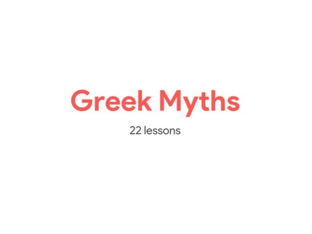 Greek Myths - KS3