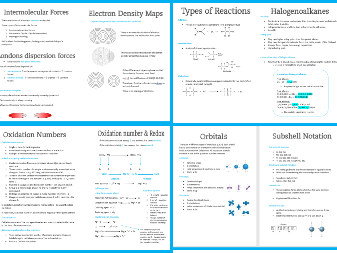 Chemistry Revision Booklets AS Edexcel
