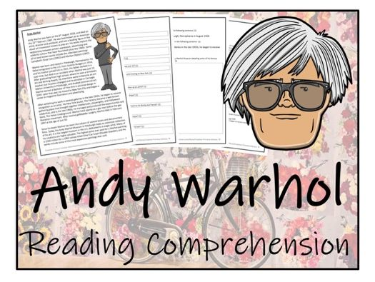 UKS2 Literacy - Andy Warhol Reading Comprehension Activity