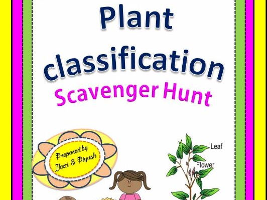Plant Classification Scavenger Hunt - An Activity