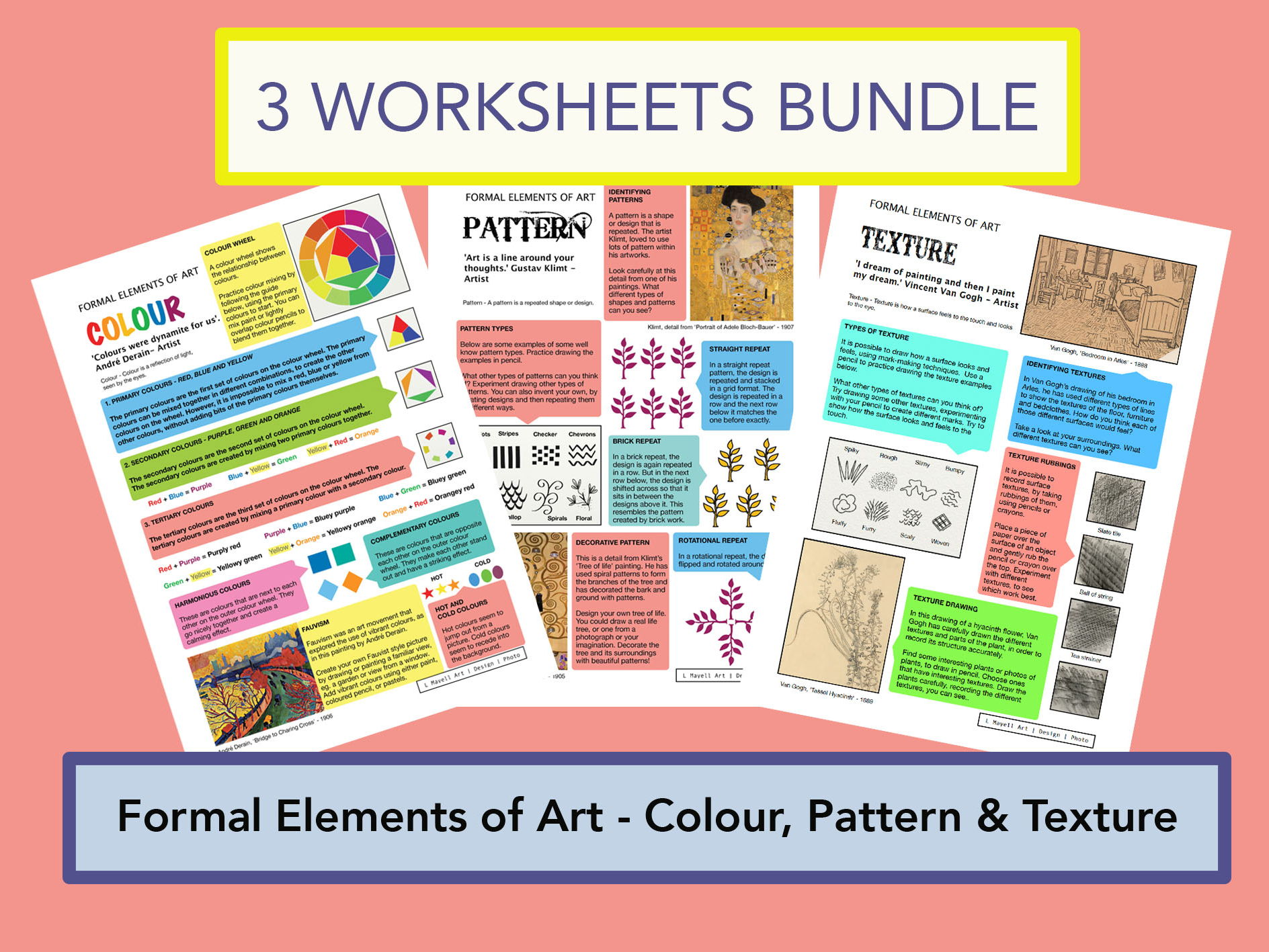 Formal Elements of Art Bundle - Colour, Pattern and Texture