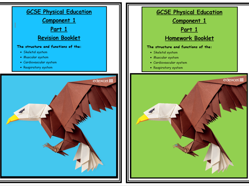 GCSE PE - Edexcel - Component 1 - Revision and Homework booklets Part 1