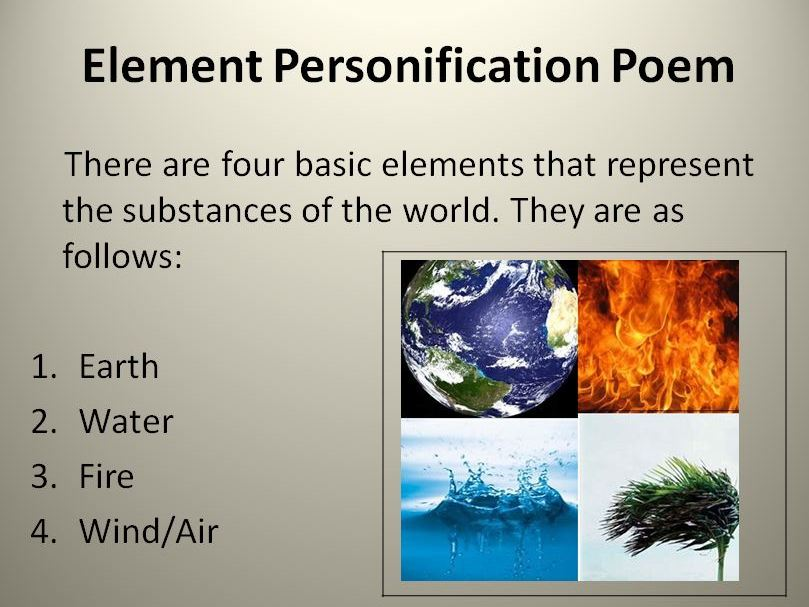 Personify An Element Poem