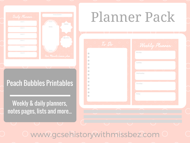 Teacher Planner Pack - Daily and Weekly Printables to Support Your Planning (Peach Bubbles Theme)
