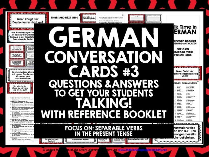 GERMAN CONVERSATION CARDS #3