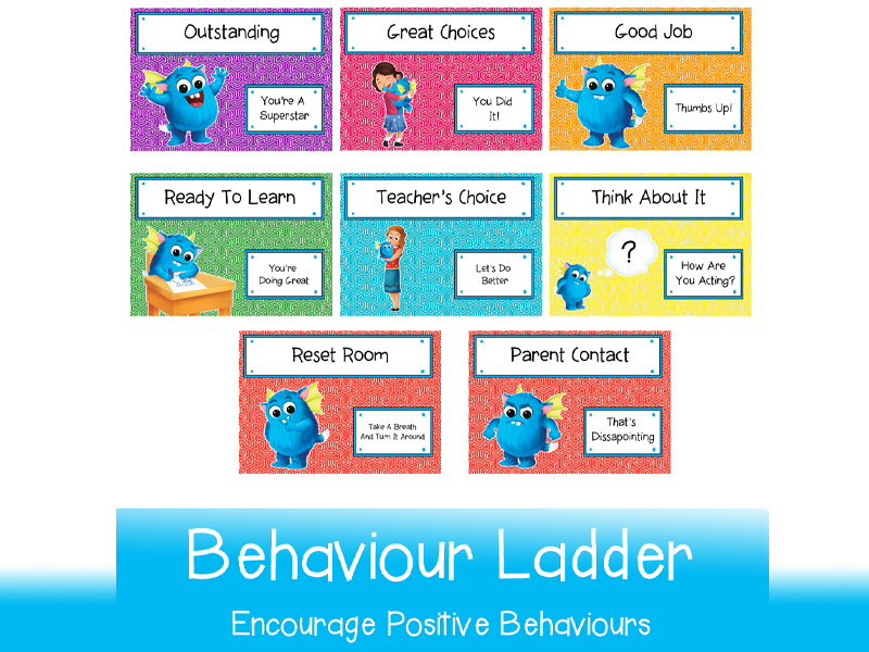 Positive Behaviours Ladder | Printable in A3 and A4 for whole class use