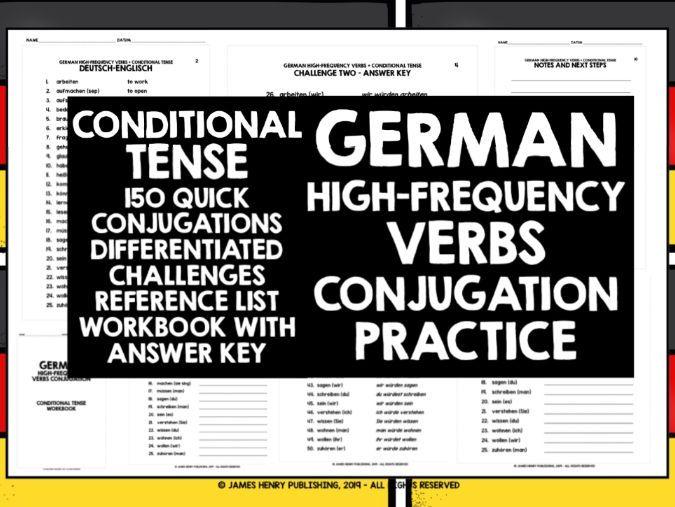 GERMAN CONDITIONAL TENSE CONJUGATION DRILLS