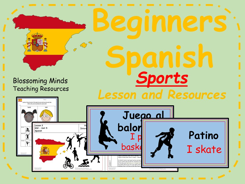 Spanish Lesson and Resources - KS2 - Sports