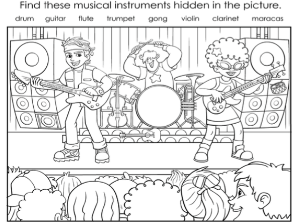 Musical Instruments Printable Collection