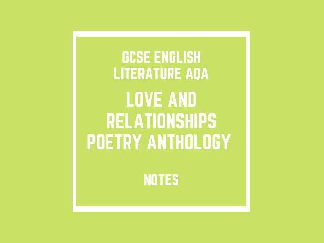 GCSE English Literature AQA: Poetry Anthology (notes)