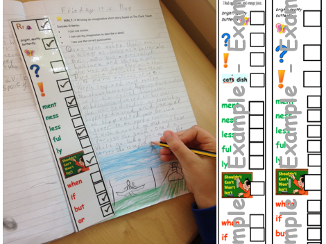 Year 2 margin writing checklist - KS1 Expected and Greater Depth. Writing skills/ moderation aids