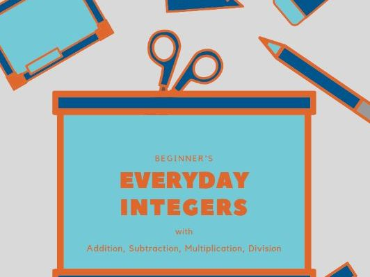 Everyday Integers: 15 Beginner Worksheets