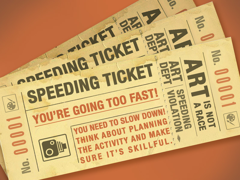 KS3/4 Art Speeding Ticket