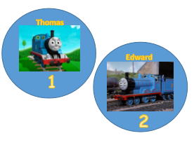 Thomas and Friends Number cards 1-10