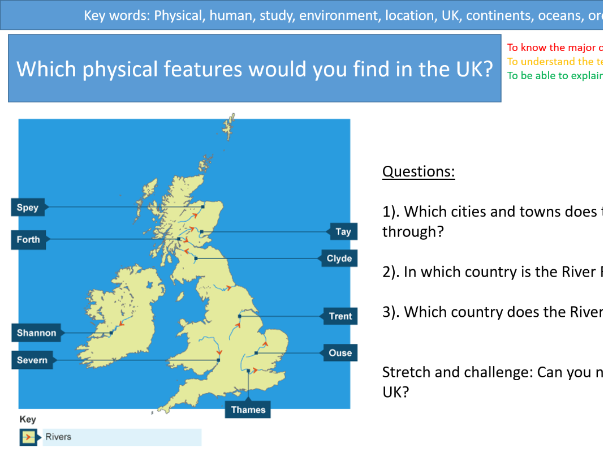KS3 Geography- UK human and physical features