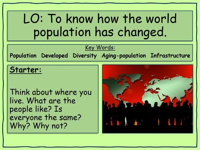 How has the world population changed?