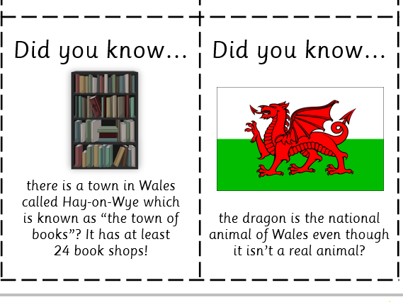 Fun Fact Cards: Wales
