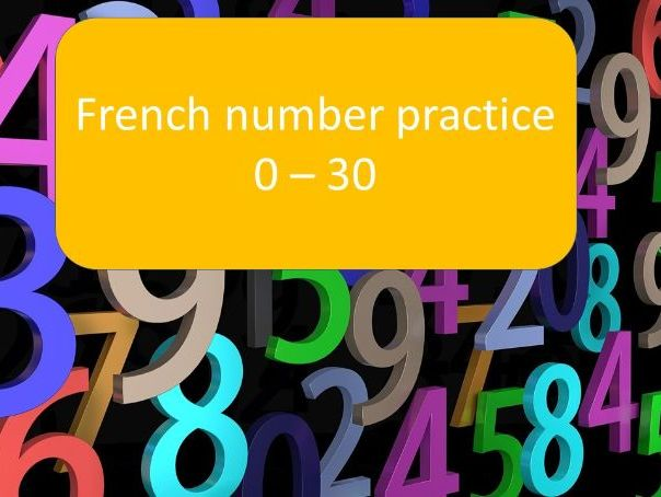 French number practice 0-30