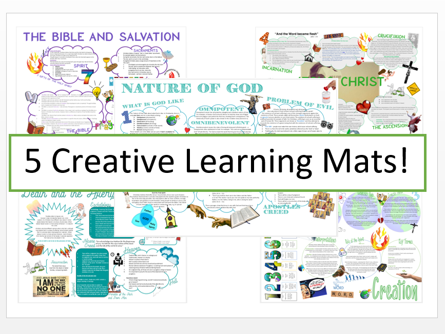 Christianity: Beliefs and Teachings Learning Mat Bundle