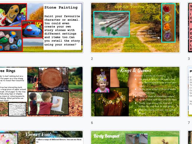 Outdoor Nature Themed Activity Ideas
