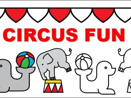 Circus Fun Cards and Colouring