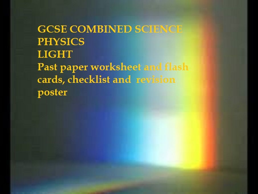 GCSE Physics (Light) Past paper Multiple choice questions and revision sheets