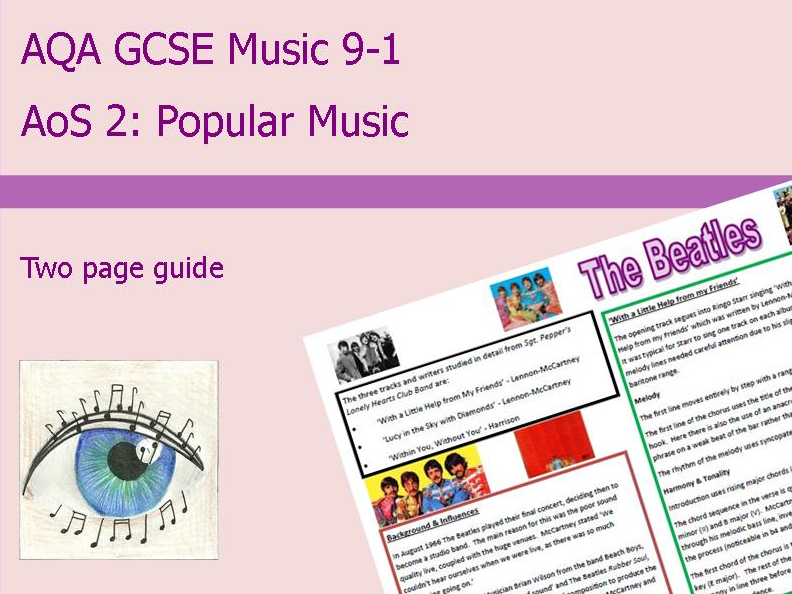 AQA Music GCSE 9-1 AoS 2: The Beatles Sgt Pepper