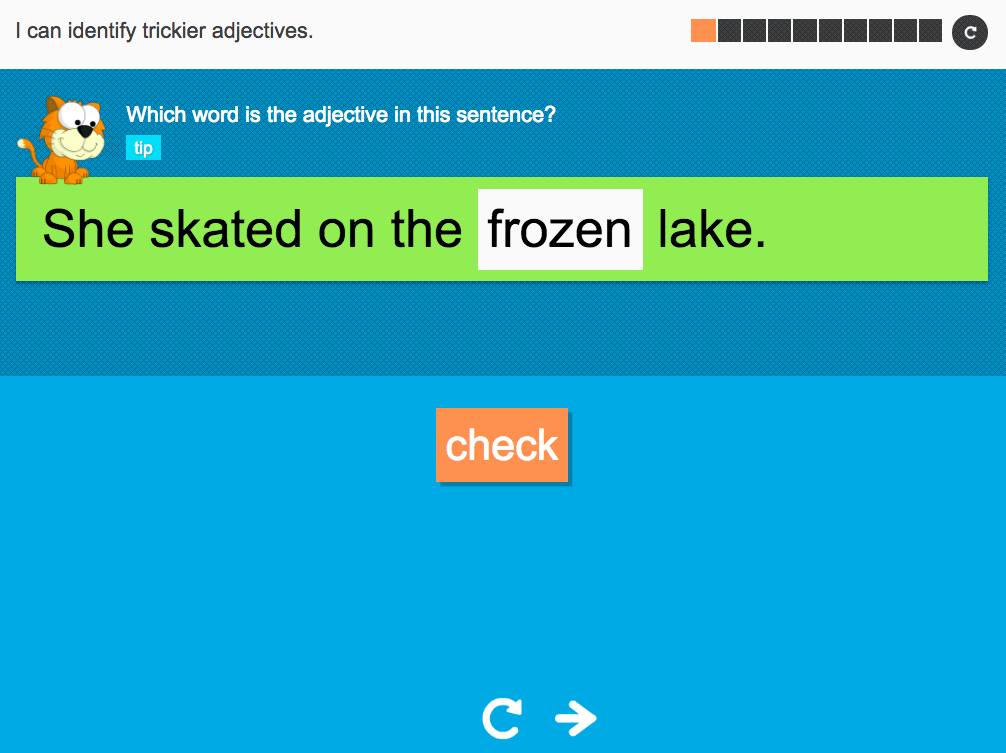 I can identify trickier adjectives - Interactive Activity - Year 2 Spag