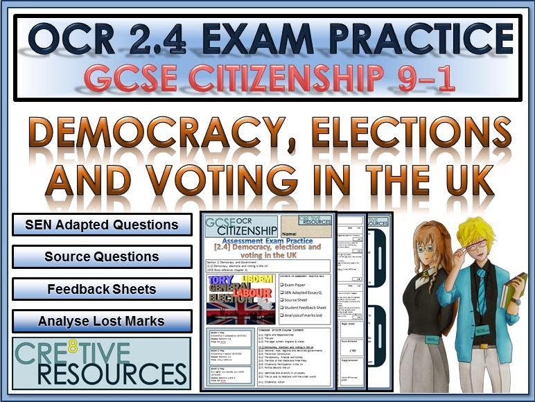 9-1 Citizenship OCR GCSE Exam Assessment: Democracy, elections and voting in the UK