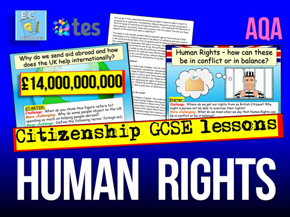 GCSE Citizenship AQA Human Rights