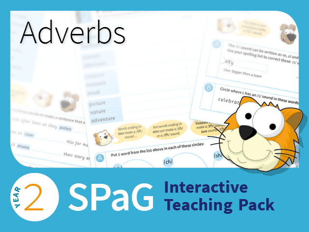 Year 2 SPaG Interactive Teaching Pack -  Adverbs