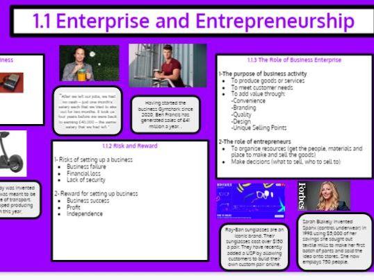 Edexcel GCSE Knowledge Organiser and RAG sheet Bundle  Theme 1