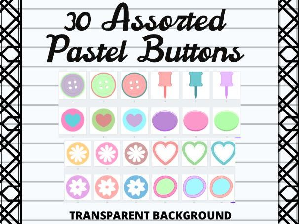 Blank Pastel Colored Buttons for Canvas, Boom , and Google Classroom