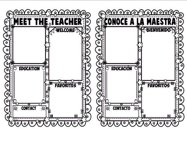 MEET THE TEACHER ★ EDITABLE NEWSLETTER