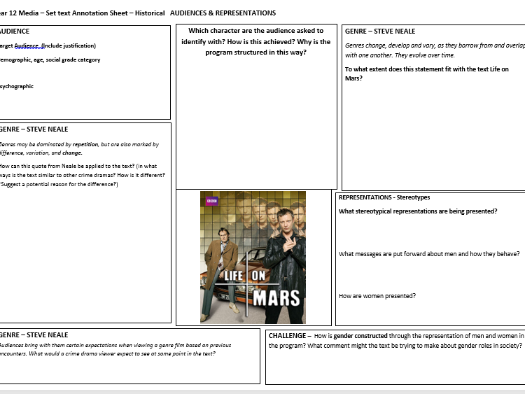 Life On Mars - Annotation Resource