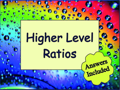 Ratio Revision - Worksheet with answers
