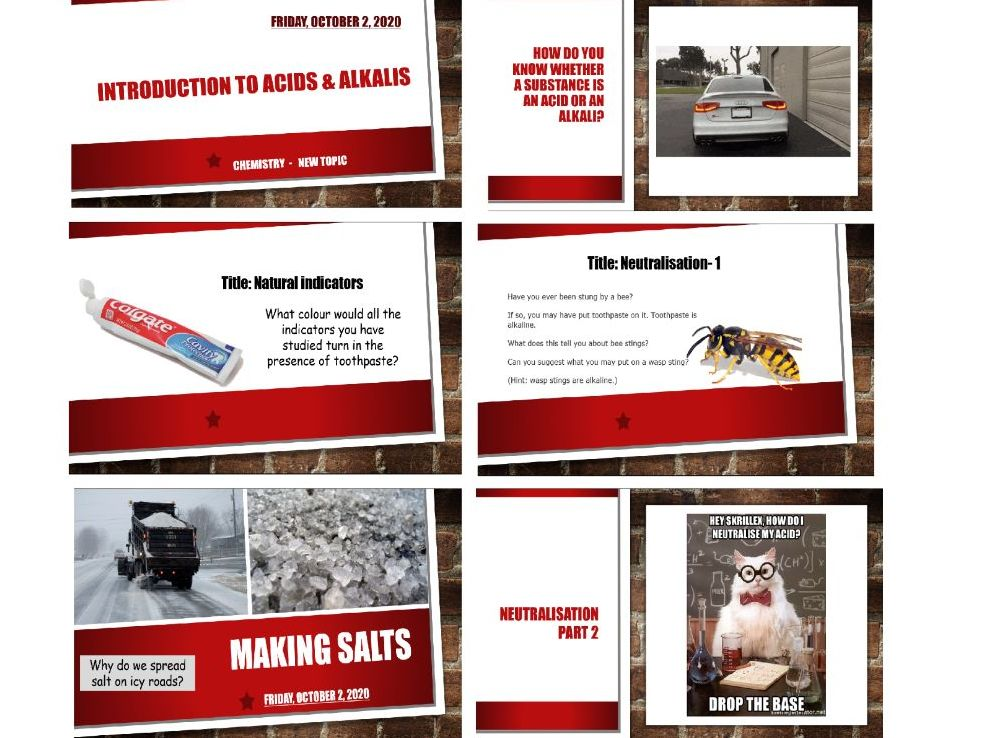 KS3 Acids and Alkalis| SIX LESSONS | Complete Unit (Suitable for Activate SOW)