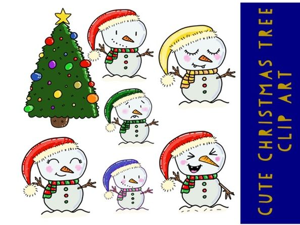 Cute Snow Man Clip Art