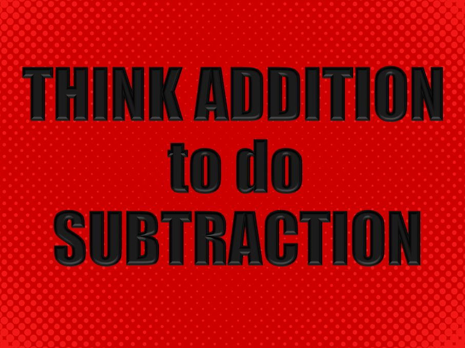Mental Math Strategy for Subtraction
